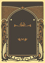 Art nouveau background and frame design perfect for classical style invitations or posters Royalty Free Stock Photo