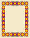 Art nouveau border photo frame Stock Image