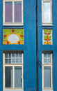 Art nouveau design alesund norway the colorful whimsical decorations typical on buildings in the coastal city of in southwest on Royalty Free Stock Photos