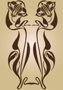 Art Nouveau design of frame Royalty Free Stock Photo