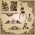 Art Nouveau Elements And Corne...