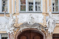 Art nouveau facade munich germany detail of a beautiful with white sculptures in bavaria Stock Image