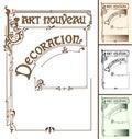 Art Nouveau frame decoration