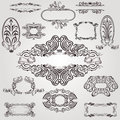 Art nouveau label old banner element there are some Royalty Free Stock Image