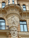 Art nouveau in riga building at alberta iela by mikhail eisenstein Stock Photos