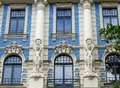 Art nouveau in riga building at a strēlnieku iela by mikhail eisenstein Royalty Free Stock Image