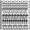 Art nouveau silhouette pattern edge element there are some Stock Image