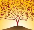 Art Nouveau Tree Royalty Free Stock Photo