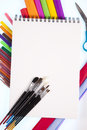Art and office supplies Royalty Free Stock Photography