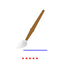 Art paint brush it is icon . Royalty Free Stock Photo