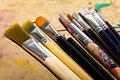 Art paint brushes Royalty Free Stock Photos