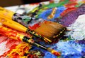 Art palette Stock Photography