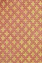 Art pattern stucco gold red temple background wall Stock Photos