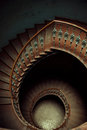 Art picture of wooden stairs spiral Stock Photos