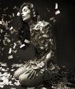 Art portrait of elegant fashionable woman Royalty Free Stock Photo