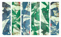 Art print on plaster and coconut paper banner set Royalty Free Stock Images