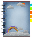 The art of rainbow and cloud. Royalty Free Stock Photography