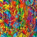 Umenie dúha farba kaluž kefa ťahy maľovať abstraktné vektor