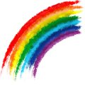 Art rainbow colors brush stroke paint background illustration Stock Photos