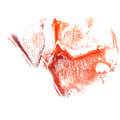 Art Red, lilac watercolor ink paint blob