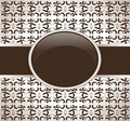 Art retro brown ornate cover Royalty Free Stock Photography