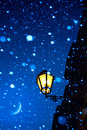 Art romantic christmas abend Stockbild