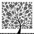 Art rowan tree beautiful for your design Stock Image