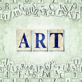 Art seamless background with letters linux libertine fonts used in the image gpl and ofl license Stock Photo