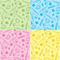 Art seamless patterns Royalty Free Stock Images