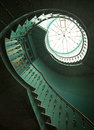 Art shot of wooden spiral stairs old Royalty Free Stock Image