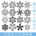 Art snowflakes set Stock Photo