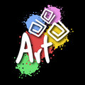 Art symbol creative design of Stock Image