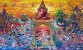 Art on Thai temple wall