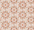 Art tiled background abstract beige floral geometric seamless texture vector lacy pattern on grey Royalty Free Stock Photos