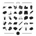 Art, transport and other web icon in black style.food, party, crime icons in set collection.