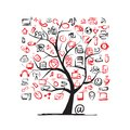 Art tree with it devices for your design this is file of eps format Royalty Free Stock Images