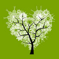 Art tree heart shape for your design Stock Images