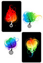 Art trees colorful for your design Stock Images