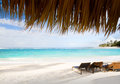 Art  Vacation on Caribbean Beach Paradise Royalty Free Stock Photo