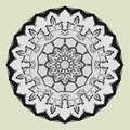 Netrivial women`s fashion art vector decoration design. circular ornament, mandala