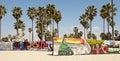 Art walls on Venice beach, Los Angeles Royalty Free Stock Photo