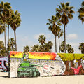 Art walls on Venice beach, Los Angeles Stock Photography