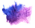 Art watercolor blue, purple ink paint blob Royalty Free Stock Photo