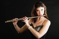 Art. Woman Flutist Flaustist M...