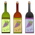 Arte de clip de las botellas de vino Imágenes de archivo libres de regalías