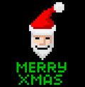Arte retro santa do pixel da arcada Imagem de Stock Royalty Free