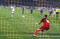 Artem Milevsky of Dynamo Kyiv misses the penalty Stock Photography