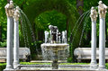 Artesian well statue in aranjuez garden madrid spain Royalty Free Stock Photography
