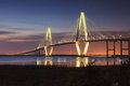 Arthur ravenel jr bridge also known as new cooper river bridge cable stayed bridge two diamond shaped towers over cooper river Royalty Free Stock Photo