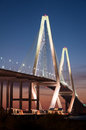 Arthur ravenel jr bridge named south carolina senator who initiated fund raising efforts its construction eight lane cable stayed Royalty Free Stock Photo